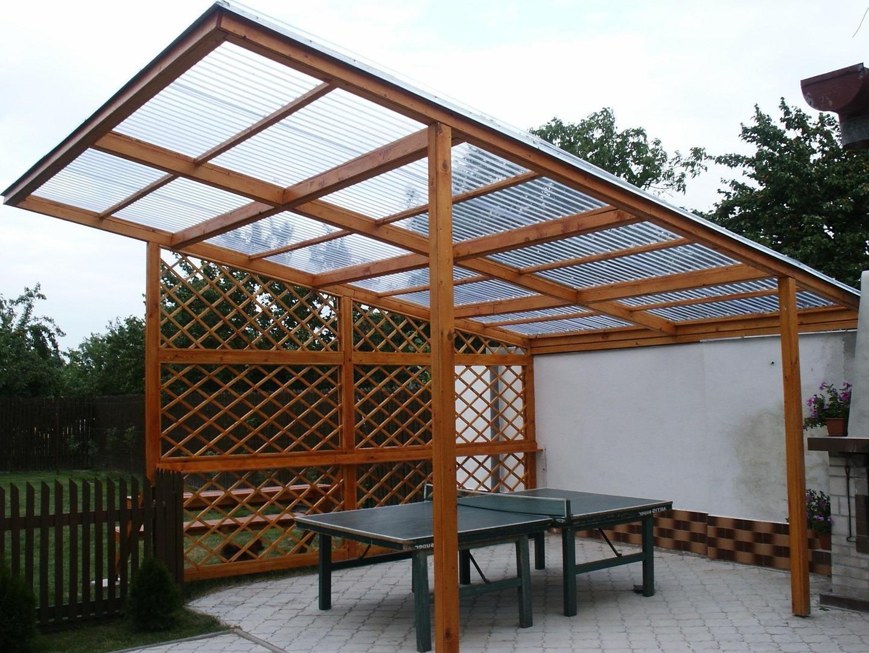 Односкатная крыша для беседки из поликарбоната своими руками